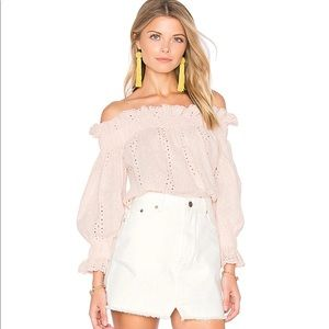 📌 NWT endless rose Blush Off The Shoulder Top